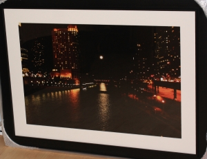 Moonlit River (framed)